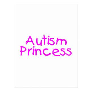 Princesa del autismo tarjeta postal