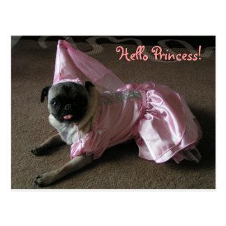 Princesa del barro amasado de Cutie Postales
