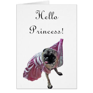 Princesa del barro amasado tarjeta de felicitación