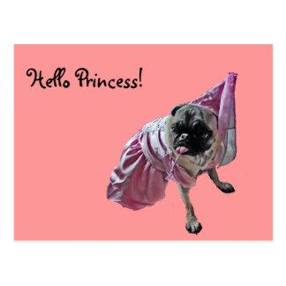 Princesa del barro amasado tarjetas postales