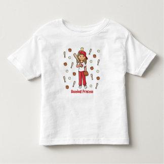 Princesa del béisbol playera de niño