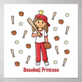 Princesa del béisbol póster