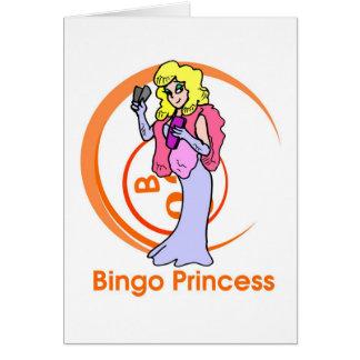 Princesa del bingo - mensaje abierto tarjeta de felicitación