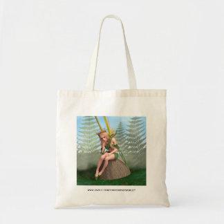 Princesa del bosque, mariposa de hadas bolsas