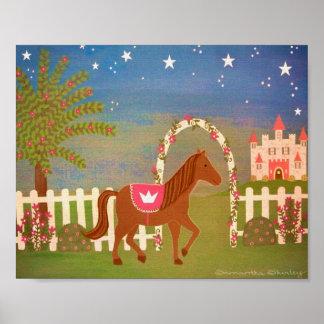 Princesa del caballo - arte de los niños de los ch impresiones