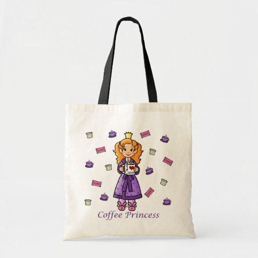 Princesa del café bolsas de mano