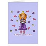 Princesa del café tarjetón