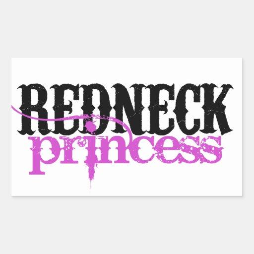 Princesa del campesino sureño pegatina rectangular