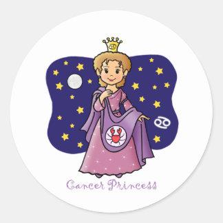 Princesa del cáncer pegatina redonda