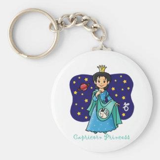 Princesa del Capricornio Llavero Redondo Tipo Pin
