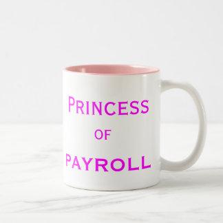 Princesa del cargo del encargado de la mujer de la taza de dos tonos
