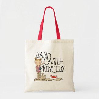 Princesa del castillo de la arena bolsas de mano