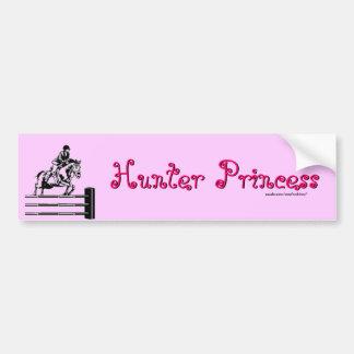 Princesa del cazador pegatina de parachoque