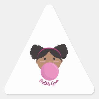 Princesa del chicle calcomanías trianguladas personalizadas