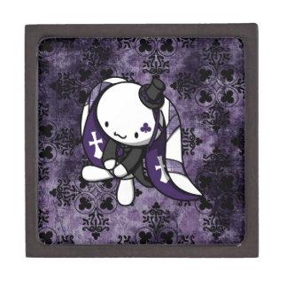 Princesa del conejo del blanco de los clubs caja de joyas de calidad