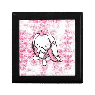 Princesa del conejo del blanco de los corazones cajas de regalo