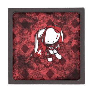 Princesa del conejo del blanco de los diamantes caja de regalo de calidad