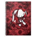 Princesa del conejo del blanco de los diamantes cuadernos