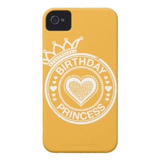 Princesa del cumpleaños - Blanca iPhone 4 Cobertura