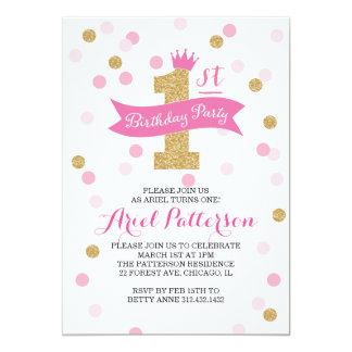 """Princesa del cumpleaños de la fiesta de cumpleaños invitación 5"""" x 7"""""""