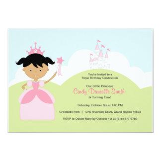 Princesa del cumpleaños de Latina en rosa con el Invitaciones Personalizada