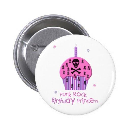 Princesa del cumpleaños del punk rock pin