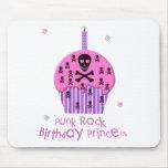 Princesa del cumpleaños del punk rock tapetes de ratón
