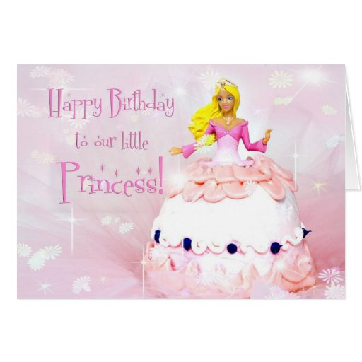 Princesa del cumpleaños - fantasía de la torta de  felicitación