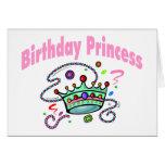 Princesa del cumpleaños felicitacion