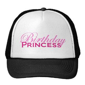 Princesa del cumpleaños gorras de camionero