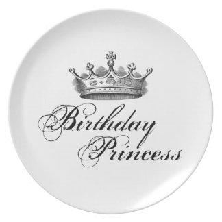 Princesa del cumpleaños plato de cena