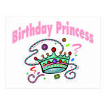 Princesa del cumpleaños postal