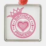 Princesa del cumpleaños - rosa - adorno de reyes