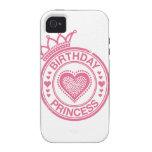 Princesa del cumpleaños - rosa - Case-Mate iPhone 4 carcasa