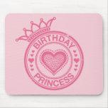 Princesa del cumpleaños - rosa - alfombrillas de ratón