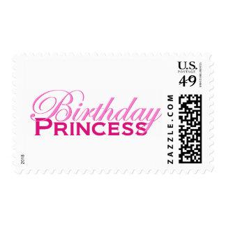 Princesa del cumpleaños sellos