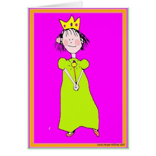 Princesa del cumpleaños tarjeta de felicitación