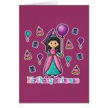 Princesa del cumpleaños tarjetas