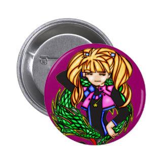 Princesa del dragón pin redondo 5 cm