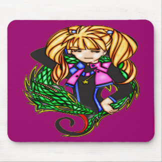 Princesa del dragón alfombrillas de ratón