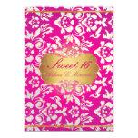 Princesa del dulce 16//damasco/rosa de la perla invitación 12,7 x 17,8 cm