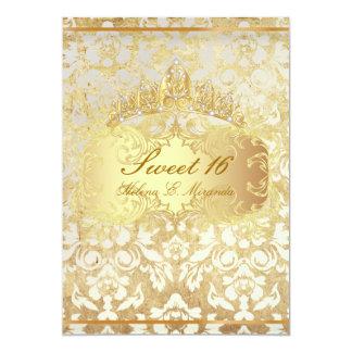 Princesa del dulce 16/del vintage de invitación 12,7 x 17,8 cm