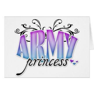 Princesa del ejército tarjeta de felicitación