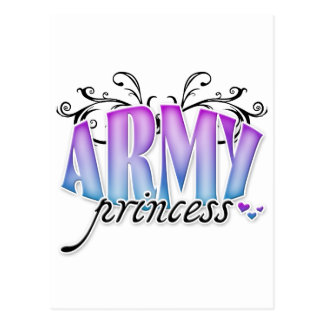 Princesa del ejército tarjetas postales