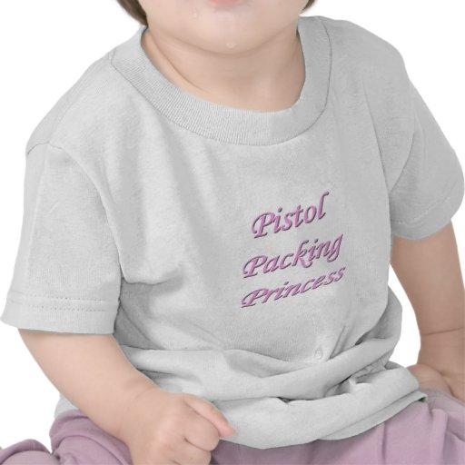 Princesa del embalaje de la pistola camiseta
