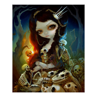 Princesa del esqueleto Lowbrow del arte de la IMPR Impresiones