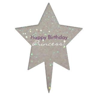¡Princesa del feliz cumpleaños! Falso brillo y Decoraciones De Tartas