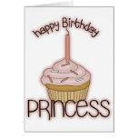 Princesa del feliz cumpleaños felicitación