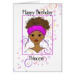 Princesa del feliz cumpleaños tarjeton