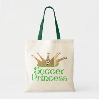 Princesa del fútbol bolsa de mano